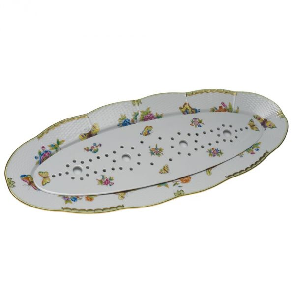 Fish Dish with drainer - Queen Victoria