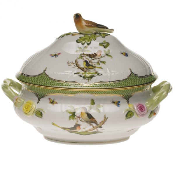 Soup tureen, bird knob - Rothschild Bird Maroone