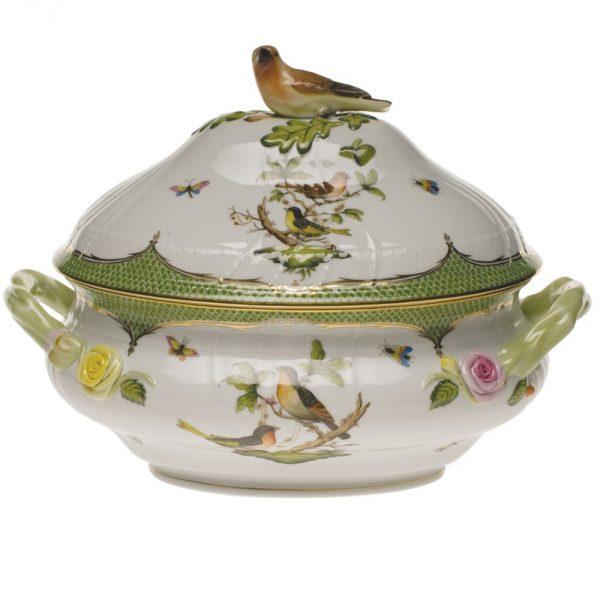 Soup tureen, bird knob - Rothschild Bird Maroone