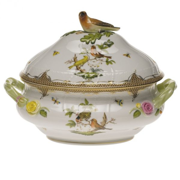 Soup tureen, bird knob - Rothschild Bird Brown