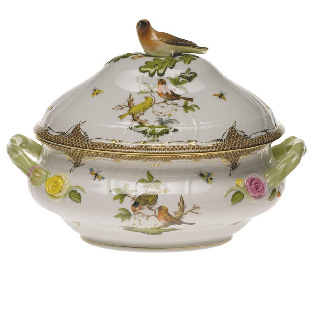 Soup tureen, bird knob - Rothschild Bird Brown