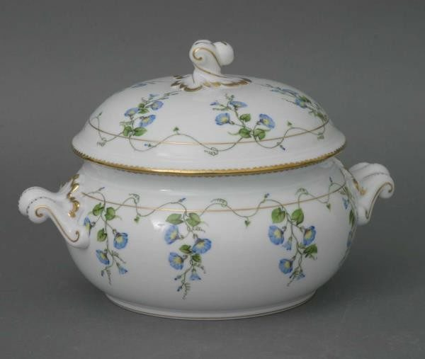 Soup tureen, twisted knob - Morning Glory
