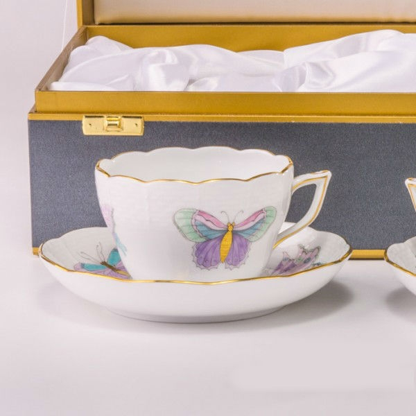 Teacup and Saucer - Royal Garden Butterfly