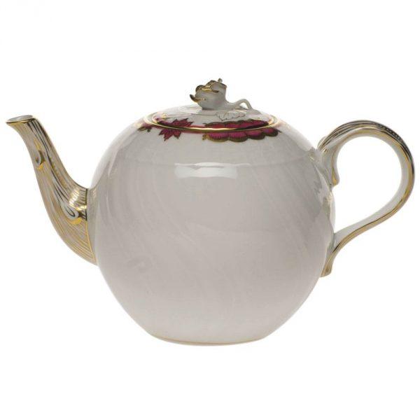 Teapot, rose knob - Princess Victoria