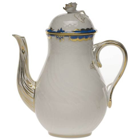 Coffee Pot, rose knob - Princess Victoria Colors