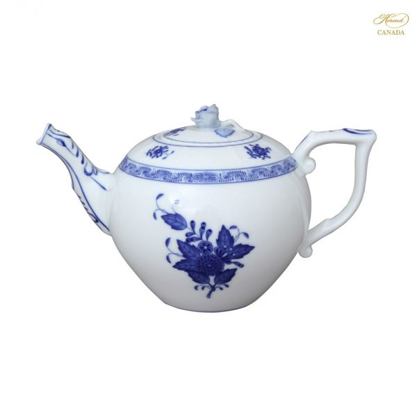 Herend Porcelain Teapot, rose knob Chinese Bouquet Colors