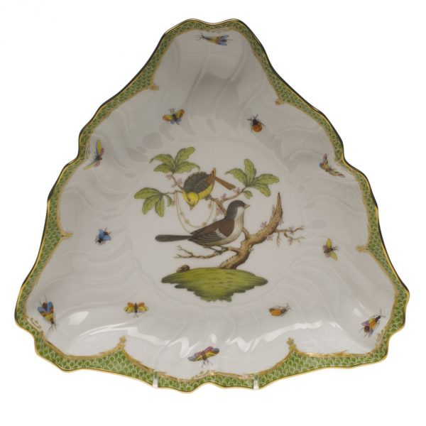 Triangle Dish - Rothschild Bird Green FIshnet
