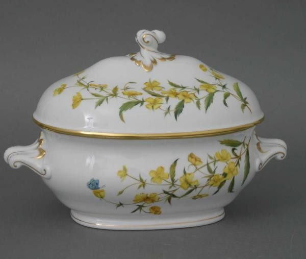 Soup tureen, branch knob - American Wildflower