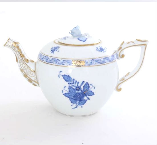 Teapot, rose knob - Chinese Bouquet