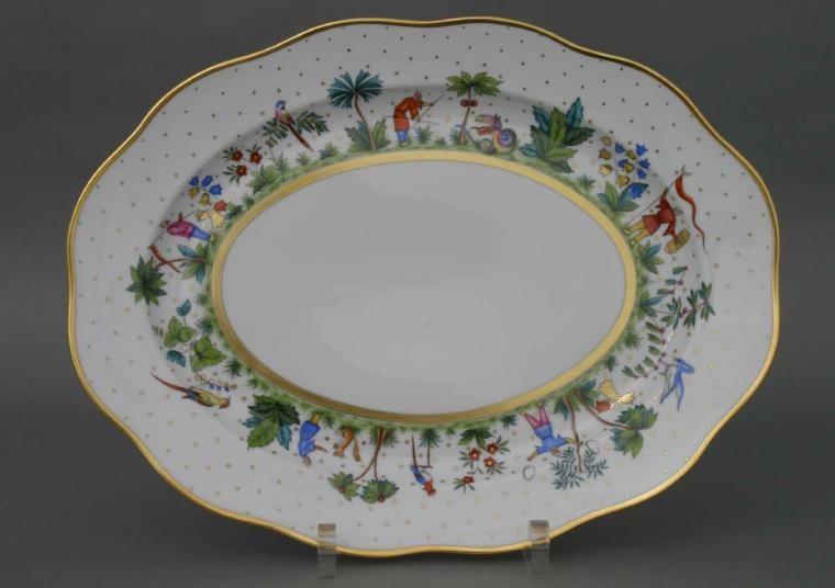 Large Oval dish - Oriental Showmen