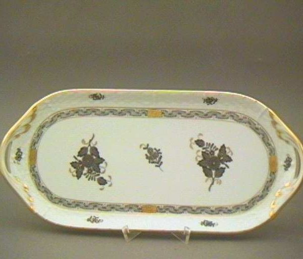 Herend Sandwich Tray Chinese Bouquet Colors