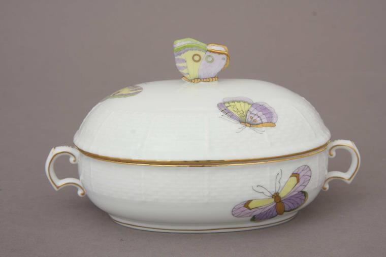 Jam pot, rose knob - Royal Garden Butterflies (Assorted Colors)