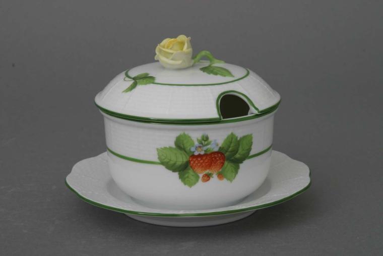 Jam pot, rose knob - Fruits of Forest