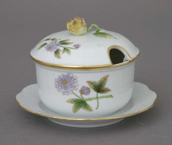 Jam pot, rose knob - Royal Garden Flowers