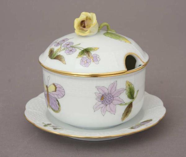 Jam pot, rose knob - Royal Garden