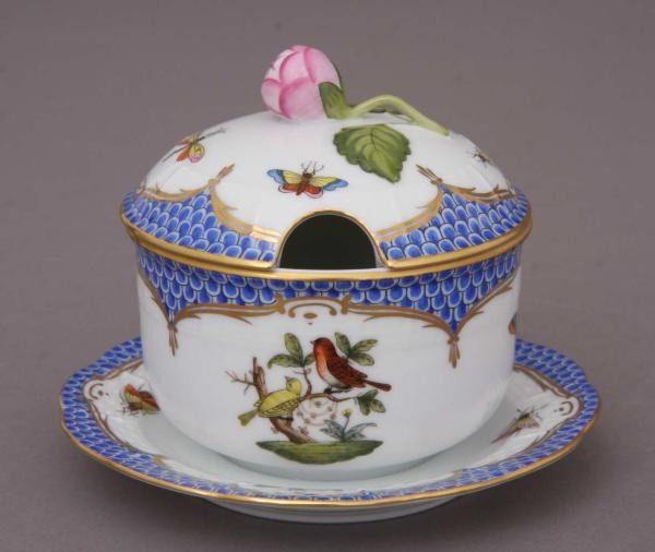 Jam pot, bud knob - Rothschild Bird Blue