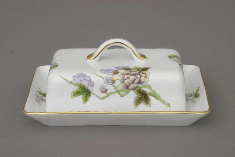 Butter dish, branch knob - Royal Garden