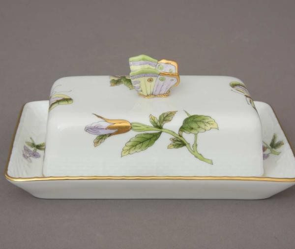 Butter dish, butterfly knob - Royal Garden