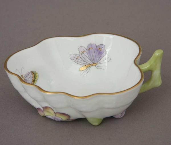 Sugar Bowl (Leaf shaped) - Royal Garden Butterfly