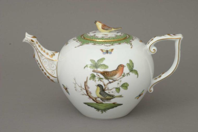 Teapot, bird knob - Rothschild Bird Maroone
