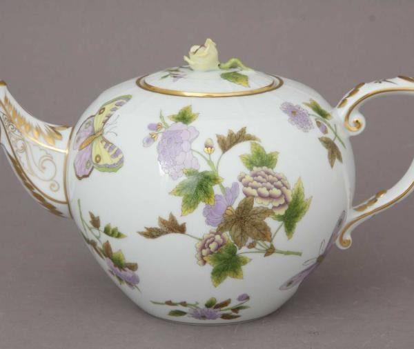 Teapot, rose knob - Royal Garden