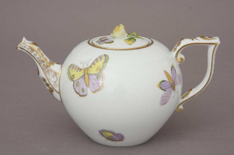 Teapot, rose knob - Royal Garden Butterfly