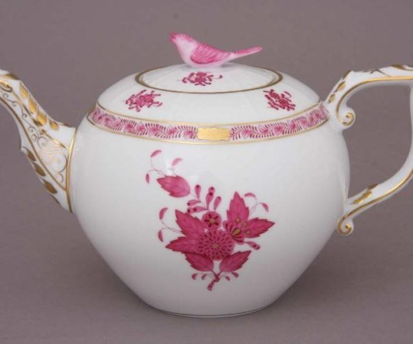 Teapot, bird knob - Chinese Bouquet