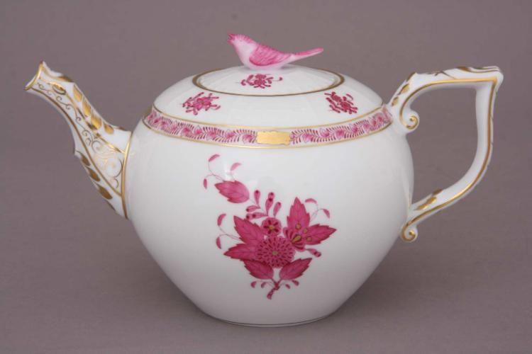 Teapot, bird knob - Chinese Bouquet