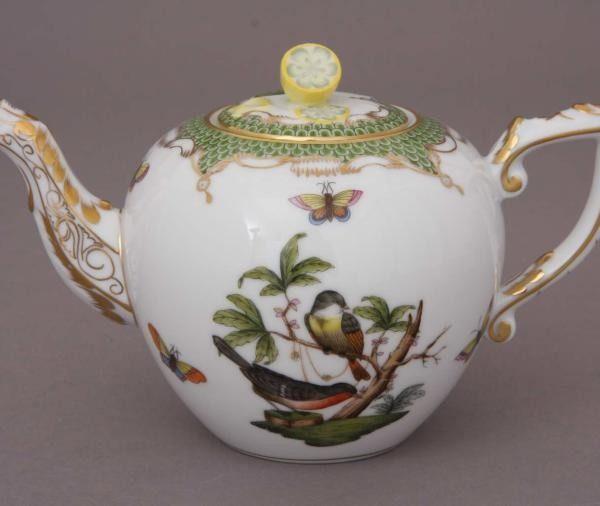 Teapot, lemon knob - Rothschild Bird Green