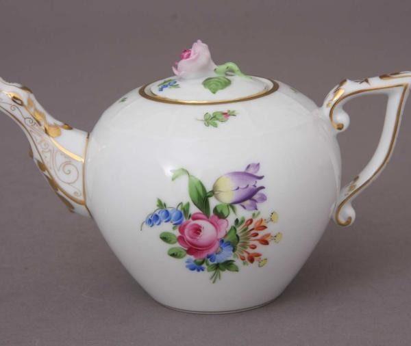 Teapot, rose knob - Printemps
