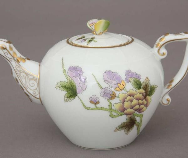Teapot, butterfly knob - Royal Garden Flowers
