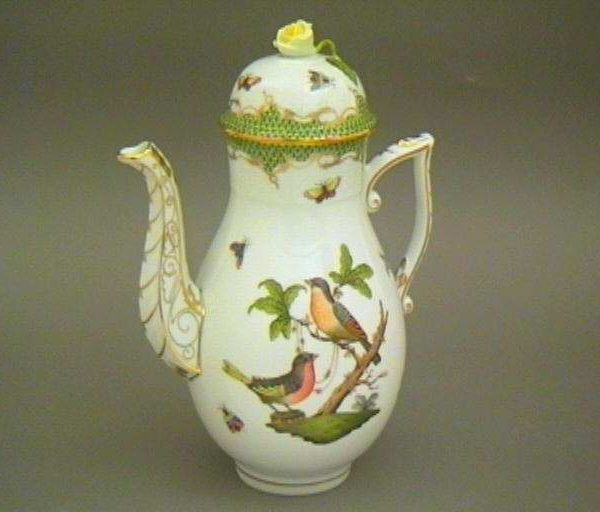 Coffee Pot, rose knob - Rothschild Bird Marrone