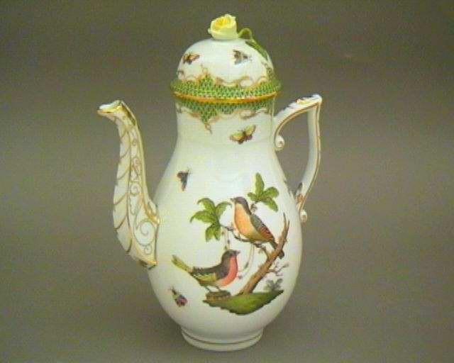 Coffee Pot, rose knob - Rothschild Bird Marrone