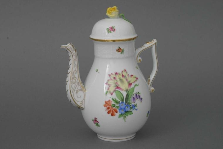 Coffee Pot, rose knob - Printemps