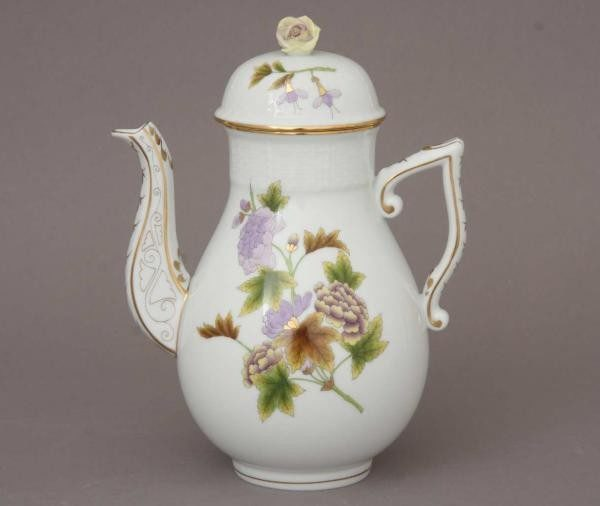 Coffee Pot, rose knob - Royal Garden Flowers