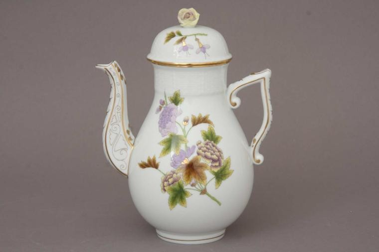 Coffee Pot, rose knob - Royal Garden Flowers