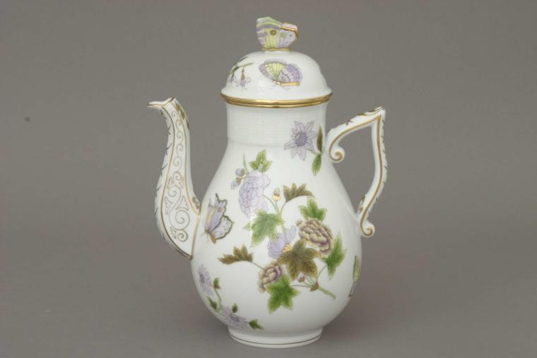 Coffee Pot, butterfly knob - Royal Garden