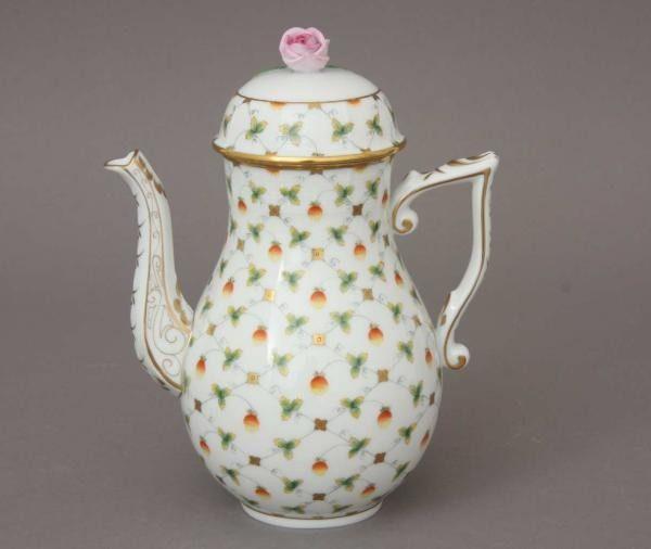 Coffee Pot, rose knob - Fresh Strawberry