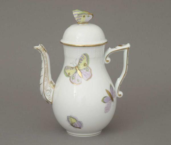 Coffee Pot, butterfly knob - Royal Garden-Butterfly