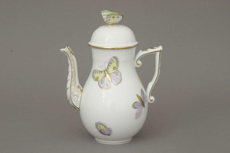 Coffee Pot, butterfly knob - Royal Garden-Butterfly