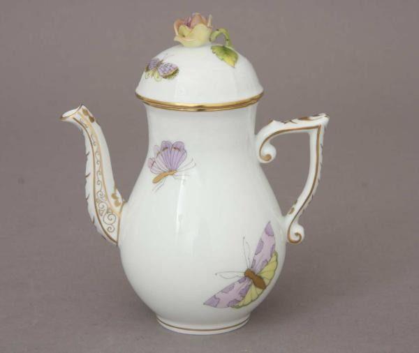 Coffee Pot, butterfly knob - Royal Garden Butterfly