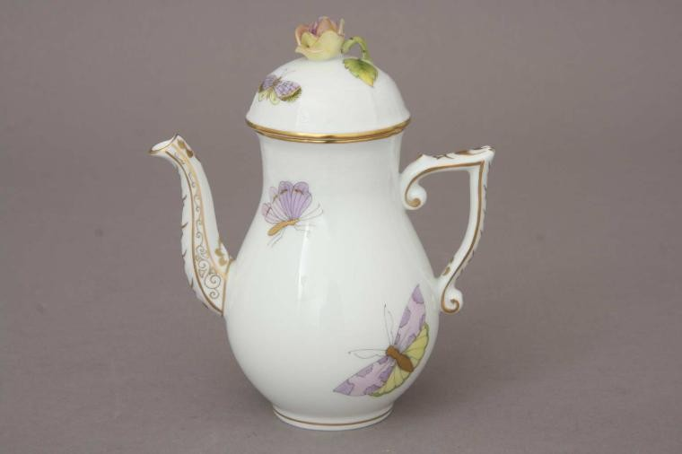 Coffee Pot, butterfly knob - Royal Garden Butterfly