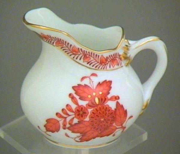 Creamer - Chinese Bouquet Rust