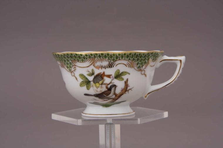 Coffee Cup and Saucer - Rothschild Bird Maroone