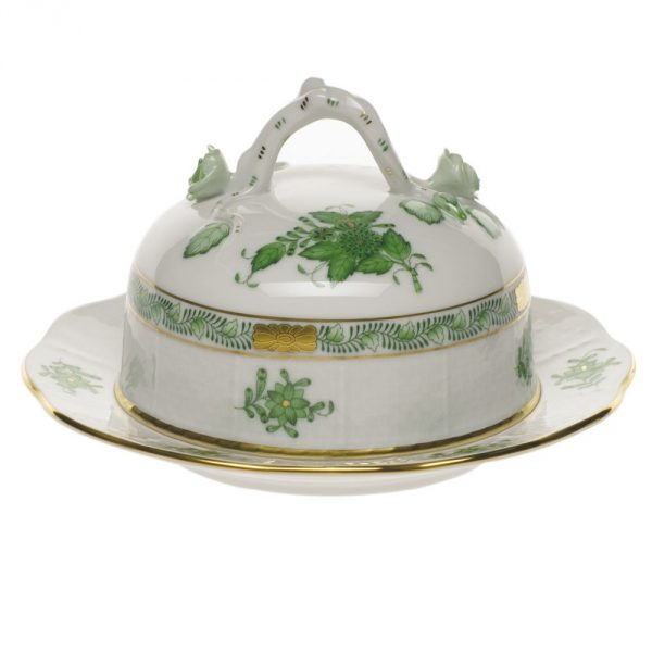 Butter dish, branch knob - Chinese Bouquet