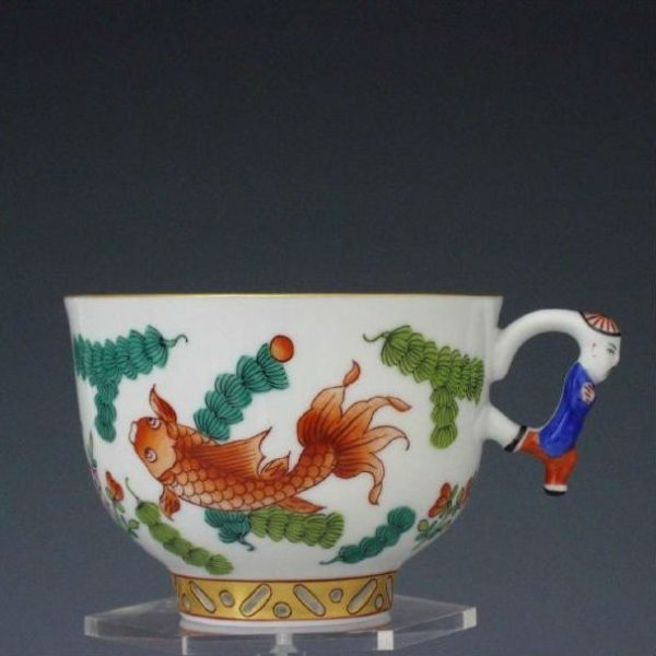 Teacup, mandarin handle - Chinese Fish