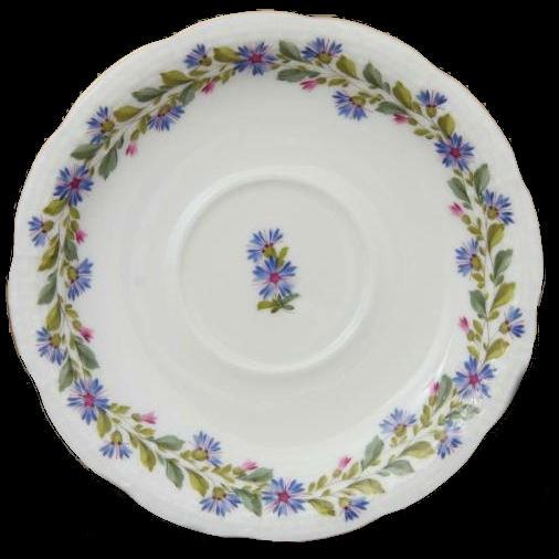 Teacup and Saucer - Rich Petit Blue Garland