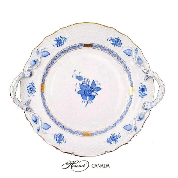 Cake Plate - Chinese Bouquet Blue