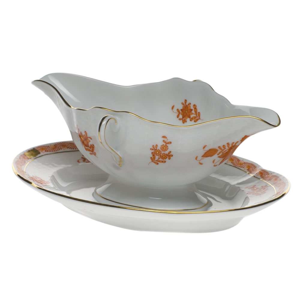 Gravy boat with stand - Chinese Bouquet
