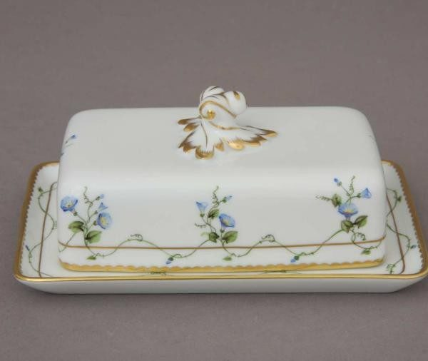 Butter dish, twisted knob - Morning Glory